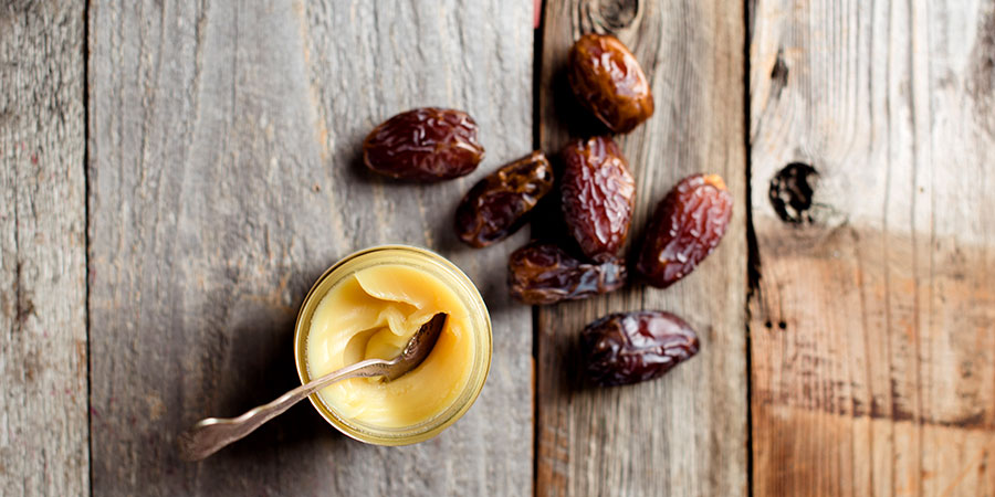 Ghee and dates