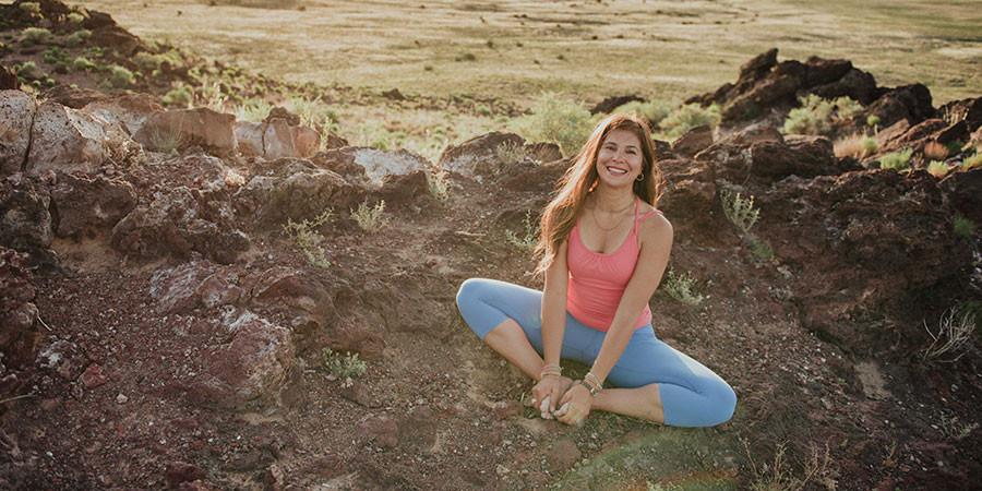 Bound Angle Yoga Pose, Banyan Botanicals
