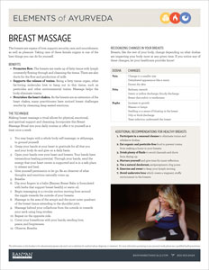 Elements of Ayurveda: Breast Massage PDF