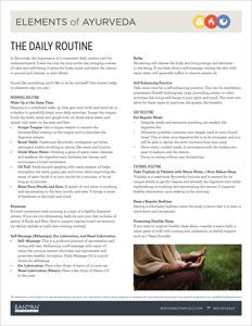 ayurvedic daily regimen diet water exercise sleep