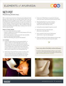 Elements of Ayurveda Nasal Rinse Guide