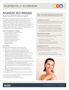 Elements of Ayurveda Self-Massage Guide