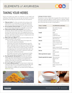 Taking Your Herbs PDF