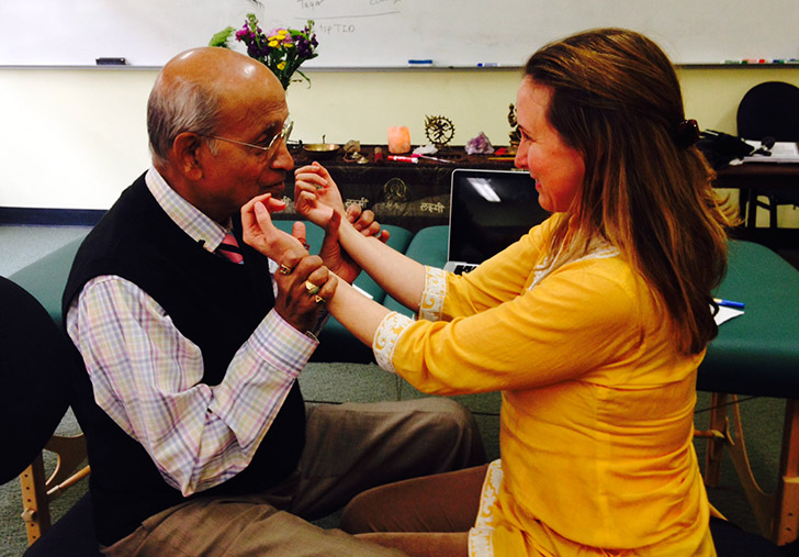 Banyan Community Relations Manager, Erin and Dr. Vasant Lad