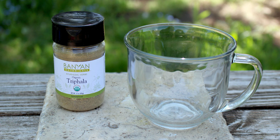 triphala powder with water