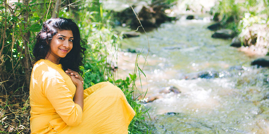 Banyan friend Sudha visits a creek to cool pitta and find balance.