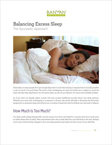 Balancing Excess Sleep PDF