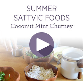 Ayurvedic diet recipes food combining guides dosha balancing summer sattvic foodscoconut mint chutney forumfinder Choice Image