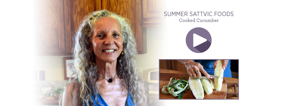 Summer sattvic foodscooked cucumber banyan botanicals save forumfinder Choice Image