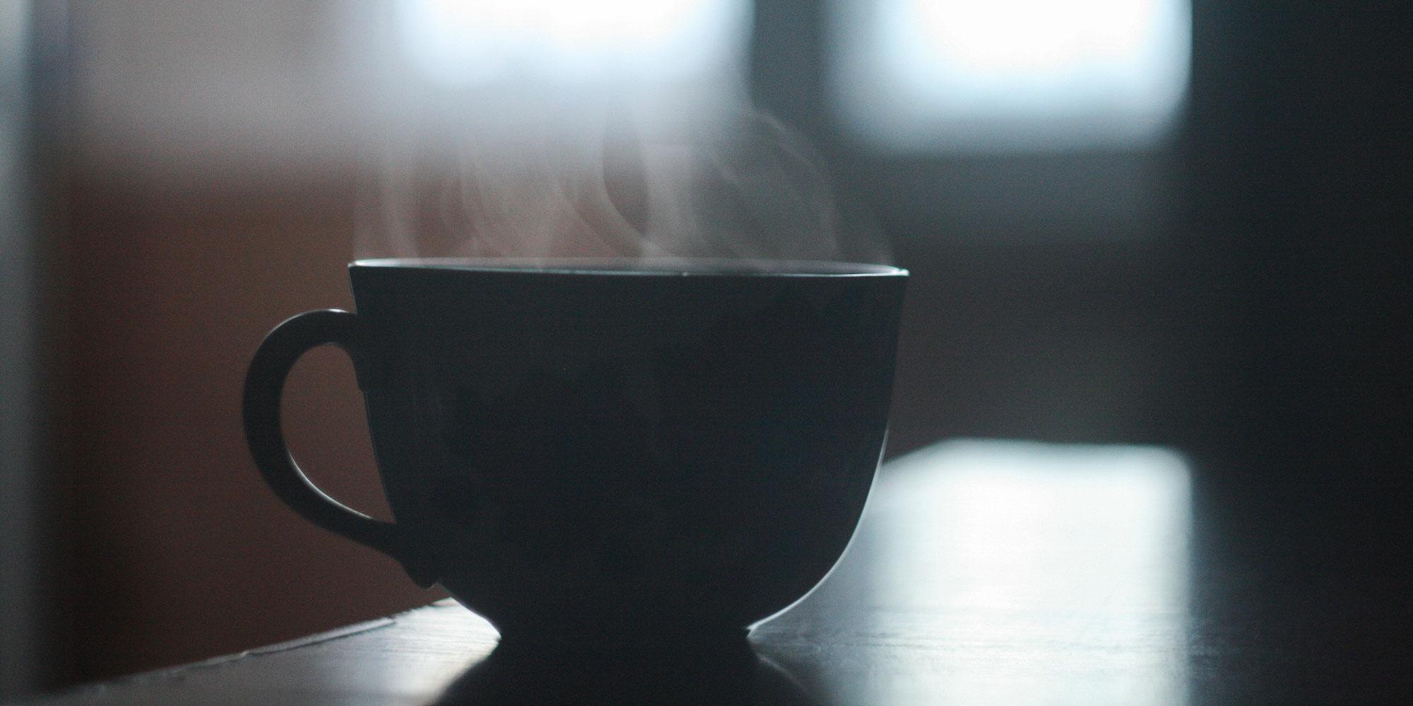 steaming mug of tea