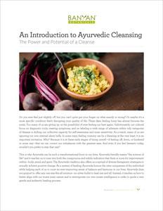 An introduction to ayurvedic cleansing banyan botanicals an introduction to ayurvedic cleansing pdf forumfinder Images