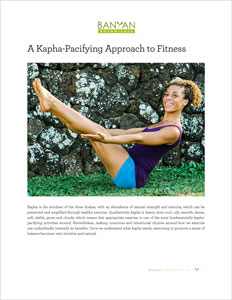 A Kapha-Pacifying Approach to Fitness PDF