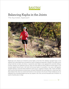 Balancing Kapha in the Joints PDF