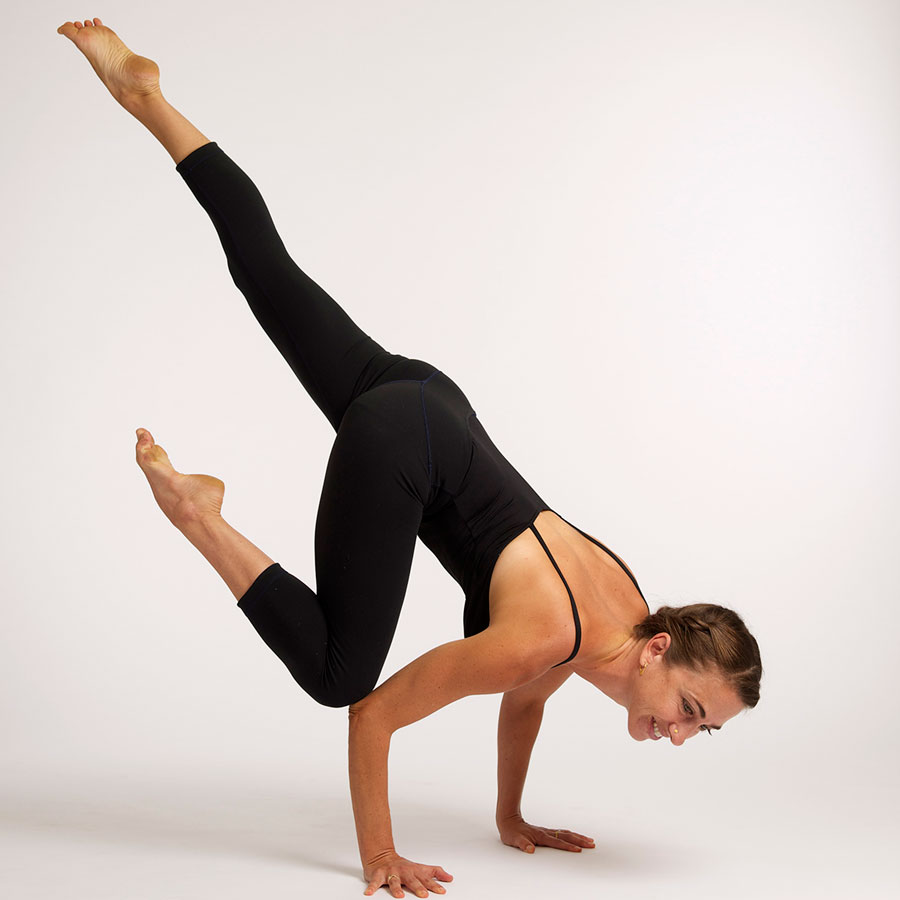 Kate O'Donnell, AP doing yoga