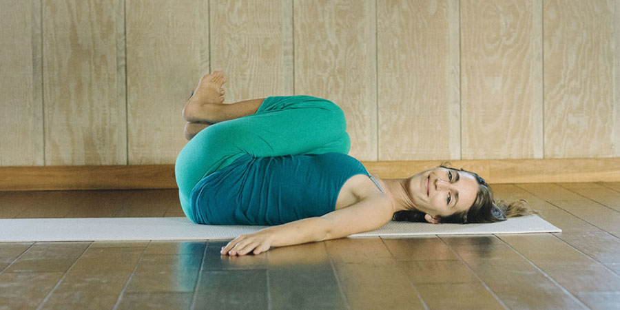 Ayurvedic Yoga, Knees To Chest Pose, Banyan Botanicals