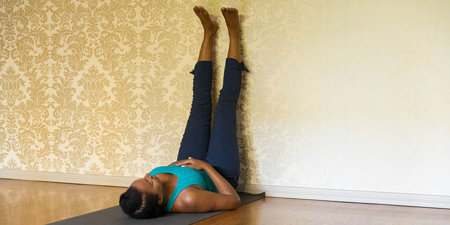 Ayurvedic Yoga, Legs Up Wall Pose, Banyan Botanicals
