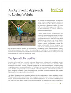 An Ayurvedic Approach to Losing Weight PDF