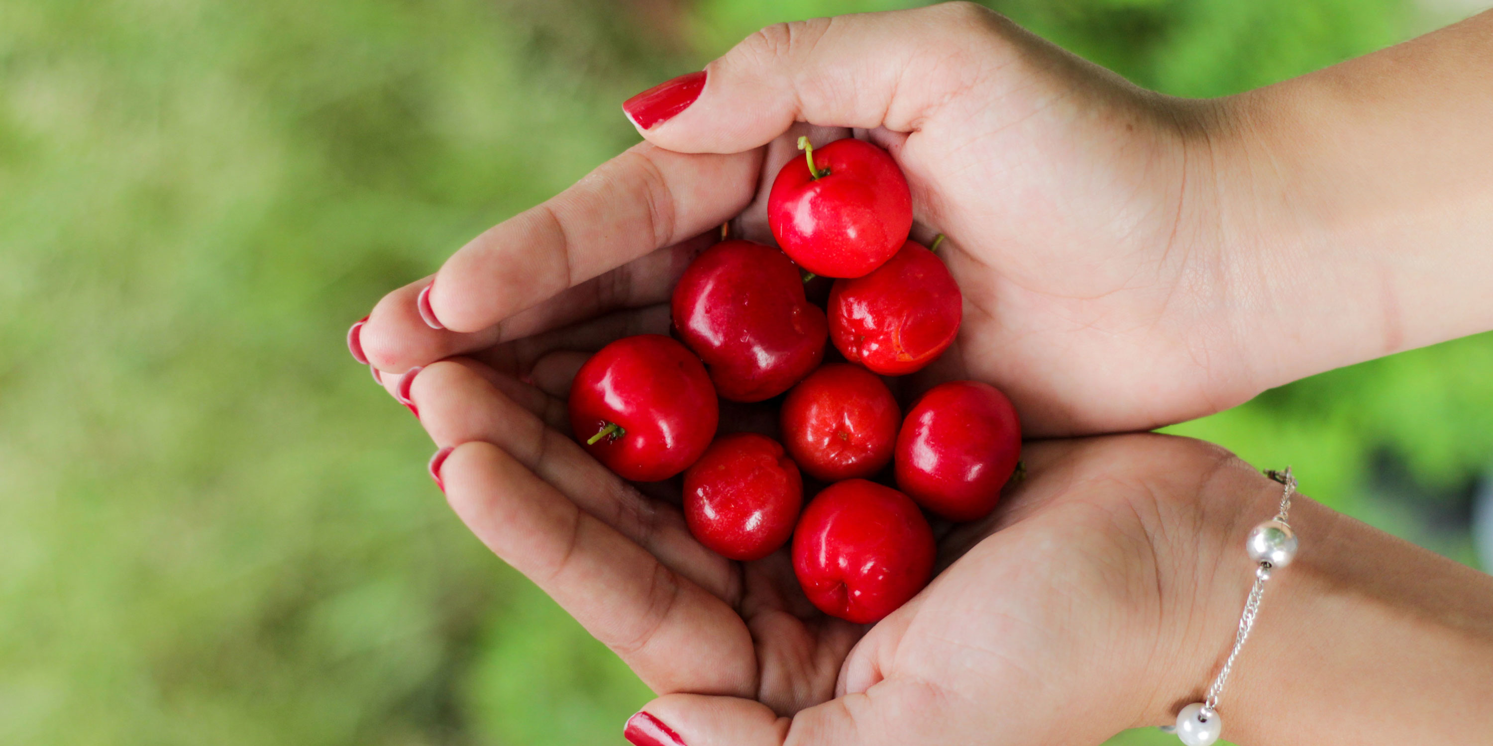 Handfuls of cherries