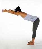 Exhale Bending at Waist