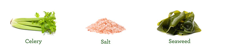 naturally salty foods