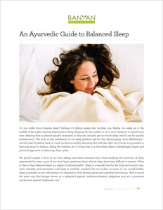 Ayurvedic Guide to Balanced Sleep PDF