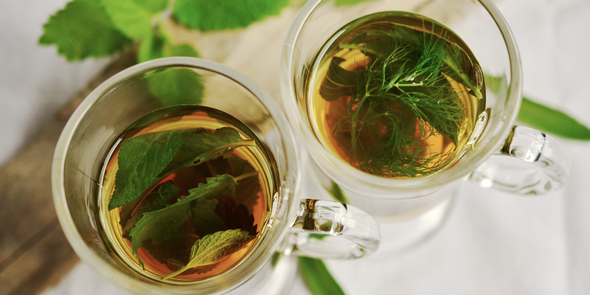 herbal-infused sun tea