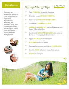 Spring Allergies Tip Sheet