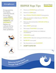Kapha Yoga Tip Sheet