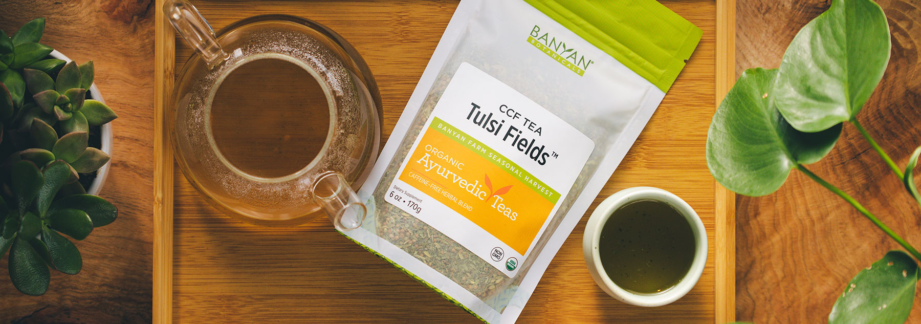 New! CCF Tulsi Fields Tea Is Bursting with Prana