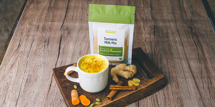 Turmeric milk mix by Banyan Botanicals.