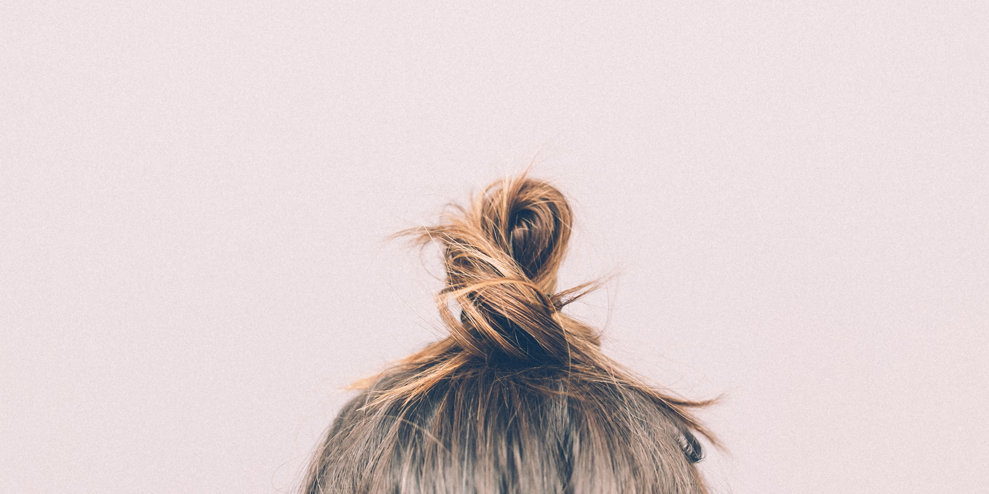 hair in top knot