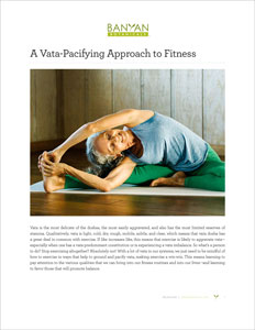 A Vata-Pacifying Approach to Fitness PDF