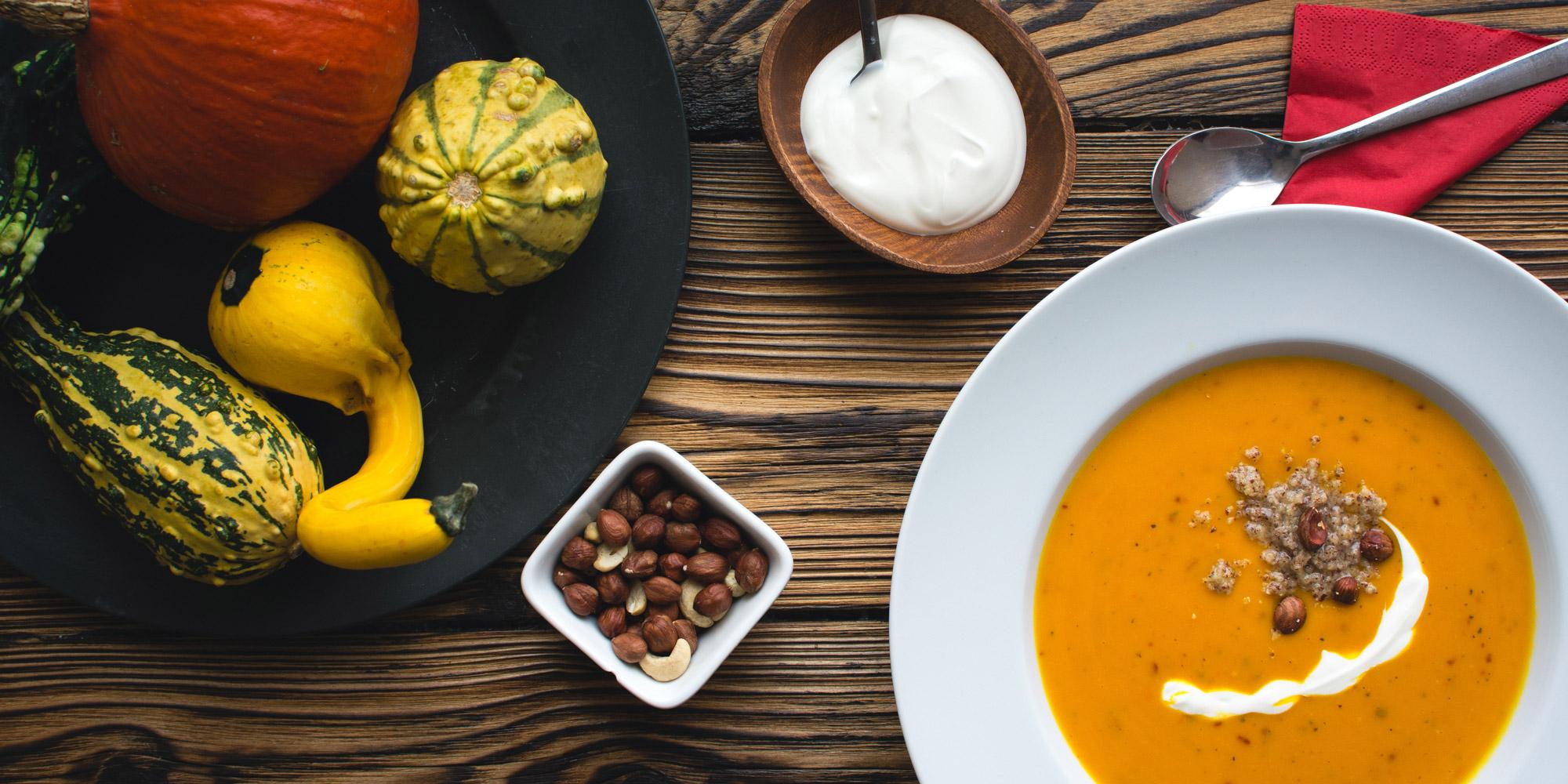 squash, gourds, soup