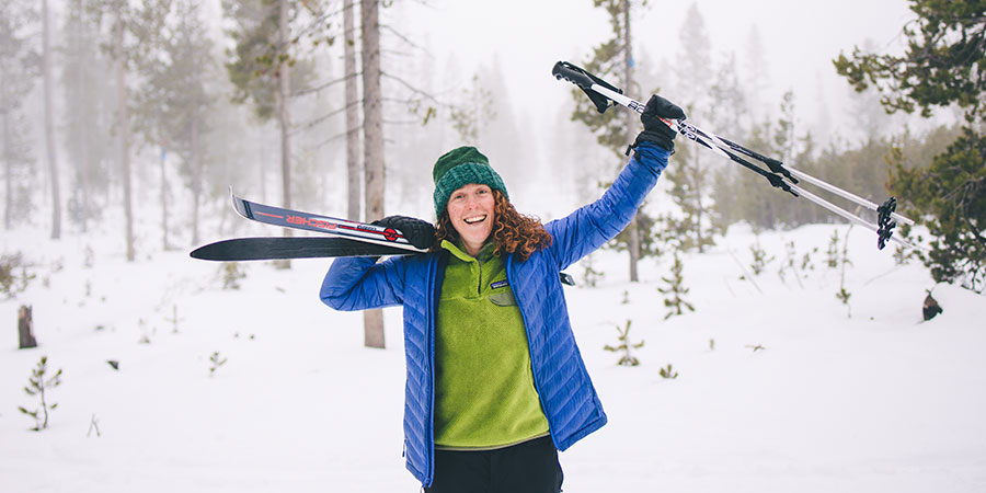 Skiing for winter health