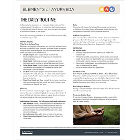 Elements of Ayurveda—Daily Routine