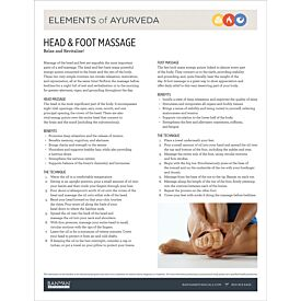 Elements of Ayurveda—Head & Foot Massage