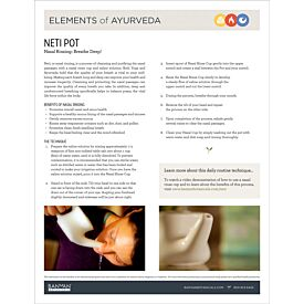 Elements of Ayurveda—Neti Pot