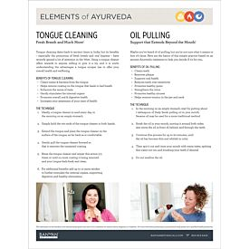 Elements of Ayurveda—Tongue Cleaning & Oil Pulling