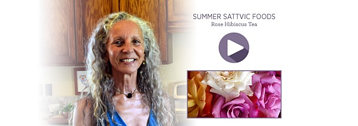 Summer Sattvic Foods—Rose Hibiscus Tea