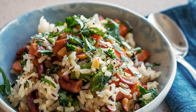 Spiced Double Rice with Cashews
