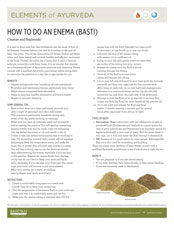 Elements of Ayurveda How to Do an Enema (Basti) Guide