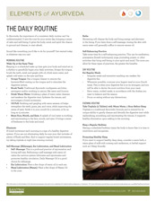 Elements of Ayurveda Daily Routine Guide