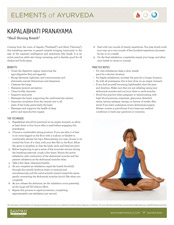 Elements of Ayurveda Kapalabhati Pranayama Guide