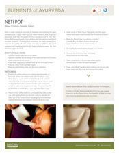 Elements of Ayurveda Neti Pot Guide