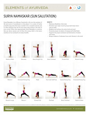 Elements of Ayurveda Sun Salutation Guide