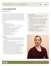 Elements of Ayurveda Ujjayi Pranayama Guide